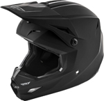 Fly Racing MX Motocross Kids Youth Elite Solid Helmet (Matte Black)