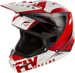 Fly Racing MX Motocross Elite Vigilant Helmet (Gloss Red/Black)
