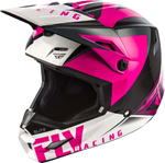 Fly Racing MX Motocross Girls Youth Elite Vigilant Helmet (Gloss Pink/Black)