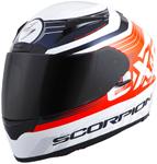 Scorpion EXO-R2000 FORTIS Full-Face Motorcycle Helmet (White/Orange)