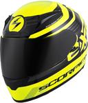 Scorpion EXO-R2000 FORTIS Full-Face Motorcycle Helmet (Black/Neon Yellow)