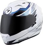 Scorpion EXO-T1200 MAINSTAY Full-Face Motorcycle Helmet (White/Blue)