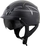 Scorpion EXO-C110 PINSTRIPE Cruiser Motorcycle Half Helmet (Black/Gold/White)