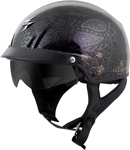 Scorpion EXO-C110 AZALEA Cruiser Motorcycle Half Helmet (Black/Gold)