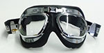 Contoured Chrome Goggles w/Adjustable Band and Lens Position, Clear Acrylic Lens