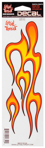 Sticker Fork Decal FLAME Left
