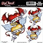 Sticker Decal ANGEL/DEVIL HEART
