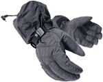 Mobile Warming Battery Heated Textile Gloves (Black)