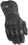 CORTECH Latigo 2 RR Road/Track Leather Motorcycle Gloves (Black)
