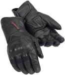 TOURMASTER Dri-Perf Gel Leather Motorcycle Gloves (Black)