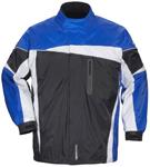TOURMASTER Defender 2.0 Two-Piece Motorcycle Rainsuit (Black/Blue)