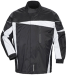 TOURMASTER Defender 2.0 Two-Piece Motorcycle Rainsuit (Black)