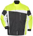 TOURMASTER Defender 2.0 Two-Piece Motorcycle Rainsuit (Black/Hi-Viz)