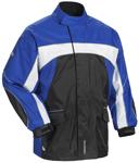 TOURMASTER Elite 3 Motorcycle Rain Jacket (Black/Blue/White)
