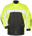 TOURMASTER Elite 3 Motorcycle Rain Jacket (Black/Hi-Viz/White)