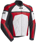 CORTECH Adrenaline Leather Motorcycle Jacket (White/Red)