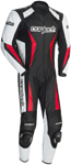 CORTECH Latigo 2.0 1-Piece Road/Track Leather Motorcycle Suit (Black/White/Red)