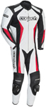 CORTECH Latigo 2.0 1-Piece Road/Track Leather Motorcycle Suit (White/Black/Red)