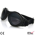 Bobster Bugeye 2 Interchangeable Goggles (Black Frame, 3 Lenses)