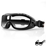 Bobster Night Hawk OTG Goggles (Black Frame, Anti-fog Clear Lens)