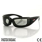 Bobster Invader Sunglasses (Black Frame, Photochromic Lens)