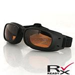 Bobster Piston Goggles (Black Frame, Amber Lens)