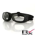 Bobster Piston Goggles (Black Frame, Clear Lens)