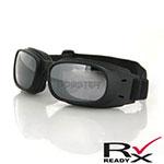 Bobster Piston Goggles (Black Frame, Reflective Smoke Lens)