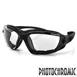 Bobster Renegade Convertible Sunglasses (Black Frame, Photochromic Lens)