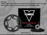 Vortex SV3 Sport Sealed O-Ring 520 HFRS Hyper Fast Chain/Sprocket Kit (15/45)