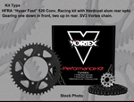 Vortex SV3 Sport Sealed O-Ring 520 HFRA Hyper Fast Chain/Sprocket Kit (14/42)