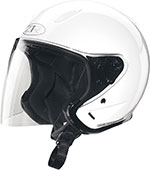 Z1R Ace TRANSIT Open Face Motorcycle Helmet (White)