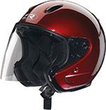 Z1R Ace TRANSIT Open Face Motorcycle Helmet (Wine)
