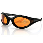 Bobster Foamerz Sunglasses (Black Frame, Anti-fog Amber Lens)