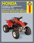 HAYNES Repair Manual - Honda ATVs TRX300EX (1993-14) TRX400EX (1999-14) TRX400X (2009-14) TRX450R (2004-14) TRX450ER (2006-14)