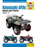 HAYNES Repair Manual - Kawasaki Bayou 220cc/250cc/300cc, Prairie 300cc ATVs (1986-2011)