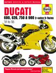 HAYNES Repair Manual - Ducati 600, 620, 750 and 900 2-valve V-Twins (1991-2005)