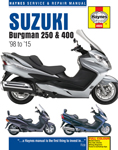 HAYNES Repair Manual - Suzuki Burgman 250 & 400 Scooters 1998-2015