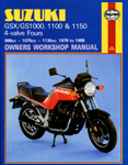 HAYNES Repair Manual - Suzuki GSX/GS1000, 1100, 1150 4-valve Fours (1979-1988)
