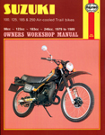 HAYNES Repair Manual - Suzuki TS Trail bikes 100/125/185/250cc (1979-1981)