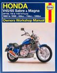 HAYNES Repair Manual - Honda 700/750 Sabre 82-85; 700/750 Magna 82-88; 1100 Sabre 84-85; 1100 Magna 83-86