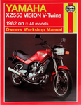 HAYNES Repair Manual - Yamaha XZ550 Vision V-Twins all models (1982-1983)