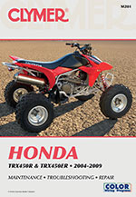 Clymer Repair Manual for Honda TRX450R and TRX450ER 2004-2011
