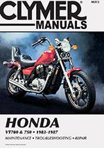 Clymer Repair Manual for Honda VT700 and VT750 1983-1987