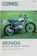 Clymer Repair Manual for Honda 100-350cc OHC Singels 1969-1982