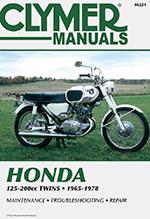 Clymer Repair Manual for Honda 125-200cc Twins 1965-1978