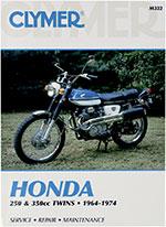 Clymer Repair Manual for Honda 250-350cc 1964-1974, CB250 CB350 CL250 CL350 SL350