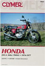Clymer Repair Manual for Honda 250-360cc Twins 1974-1977, CB250GS CB360 CJ250 CJ360