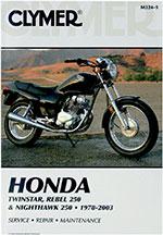 Clymer Repair Manual for Honda Twinstar, Rebel 250 and Nighthawk 250 1978-2003