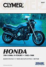 Clymer Repair Manual for Honda V-Fours 1982-1988, VF700 VF750 VF1100 Sabre Magna